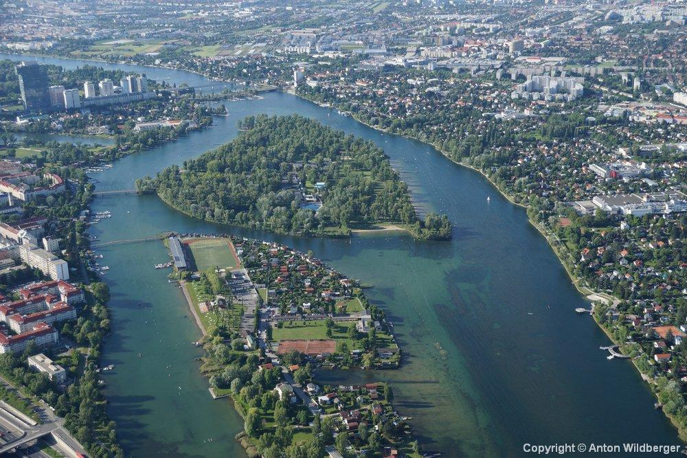 Wien Alte Donau Strandbad G nseh ufel kleines G nseh ufel mit